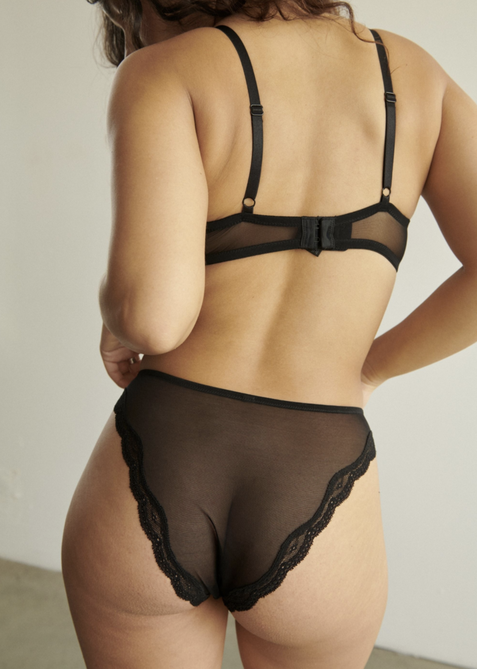 Blush Lingerie Lotus High Leg Bikini Black by Blush Lingerie