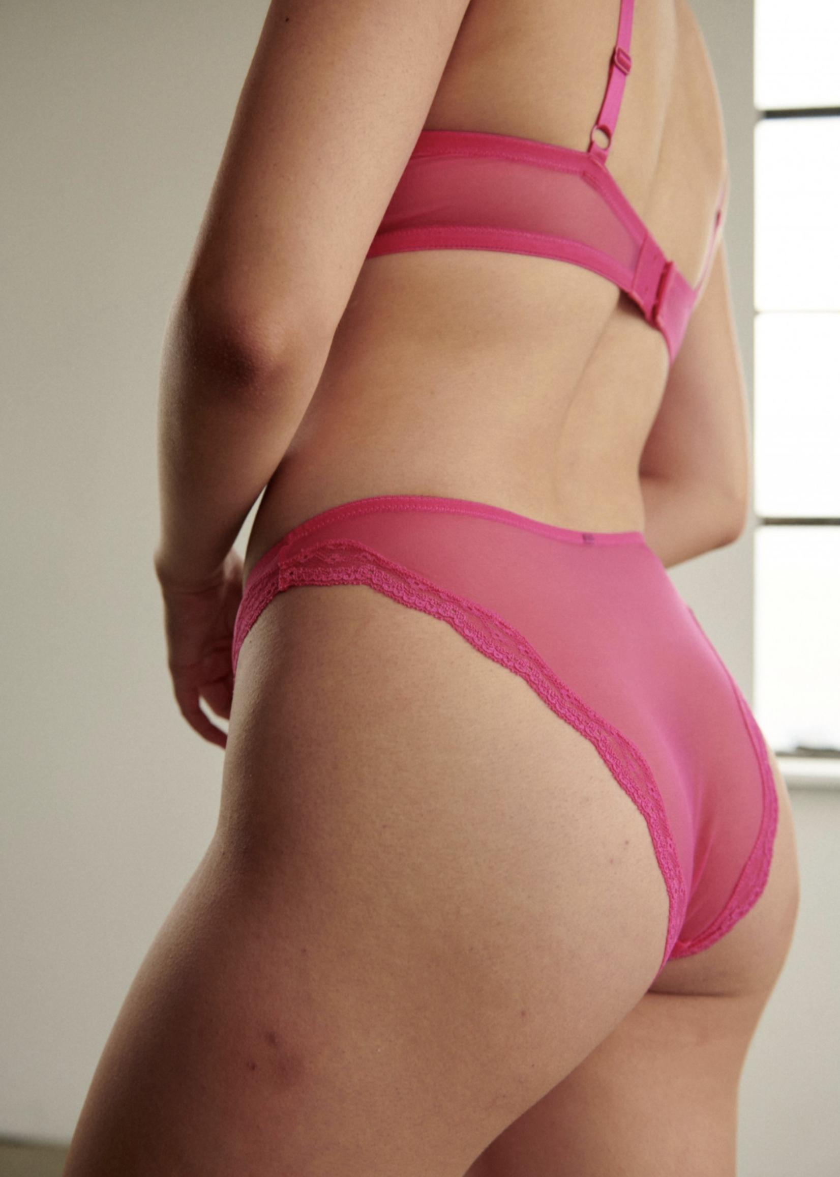 Blush Lingerie Lotus High Leg Bikini Hot Pink by Blush Lingerie