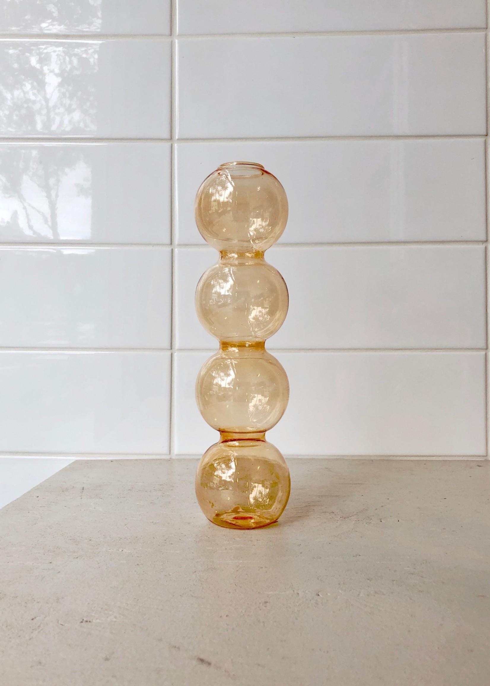 Annex Vintage Bubbles Glass Vase by Annex Vintage