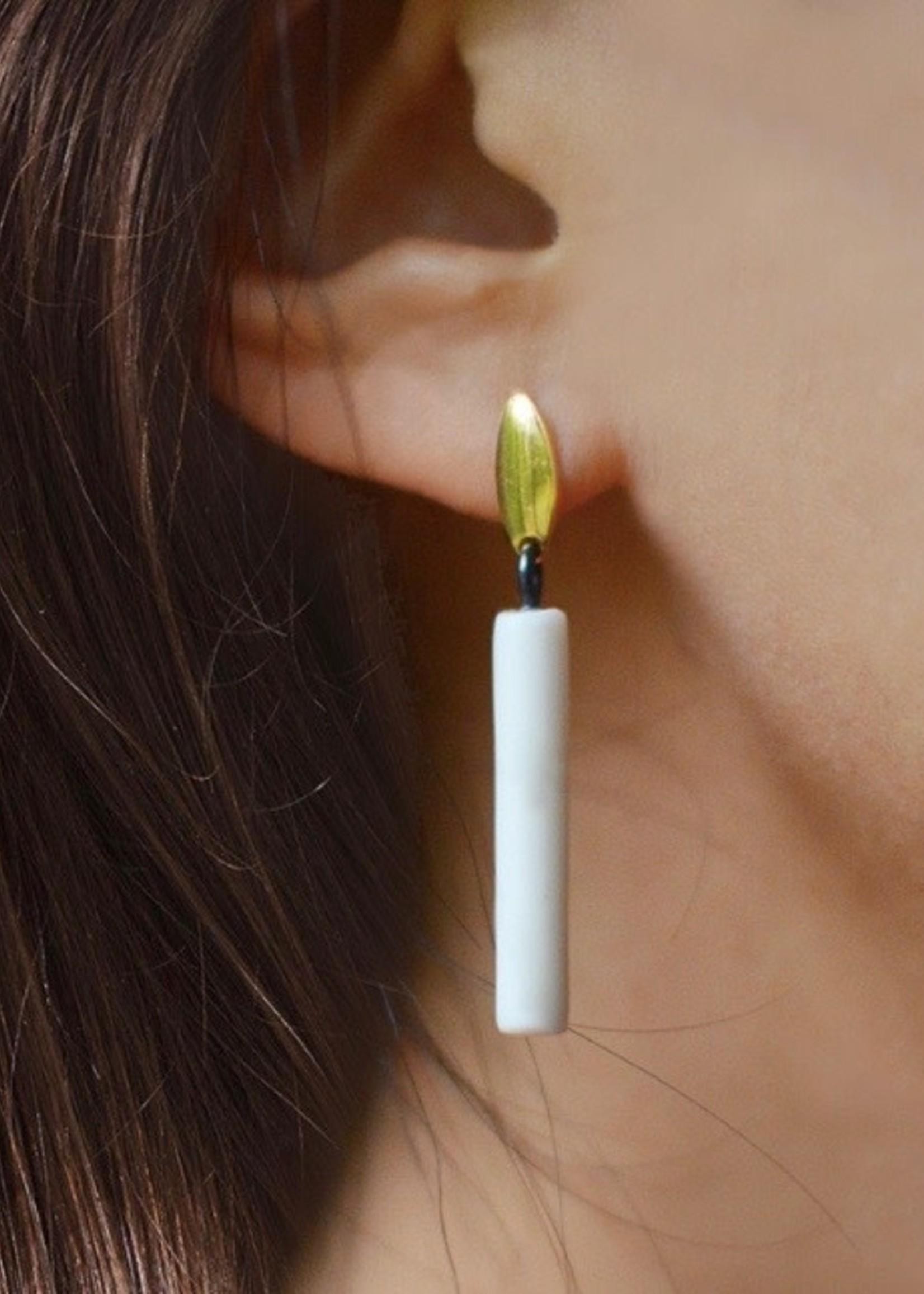 Monochromatiques Candles Earrings by Monochromatiques