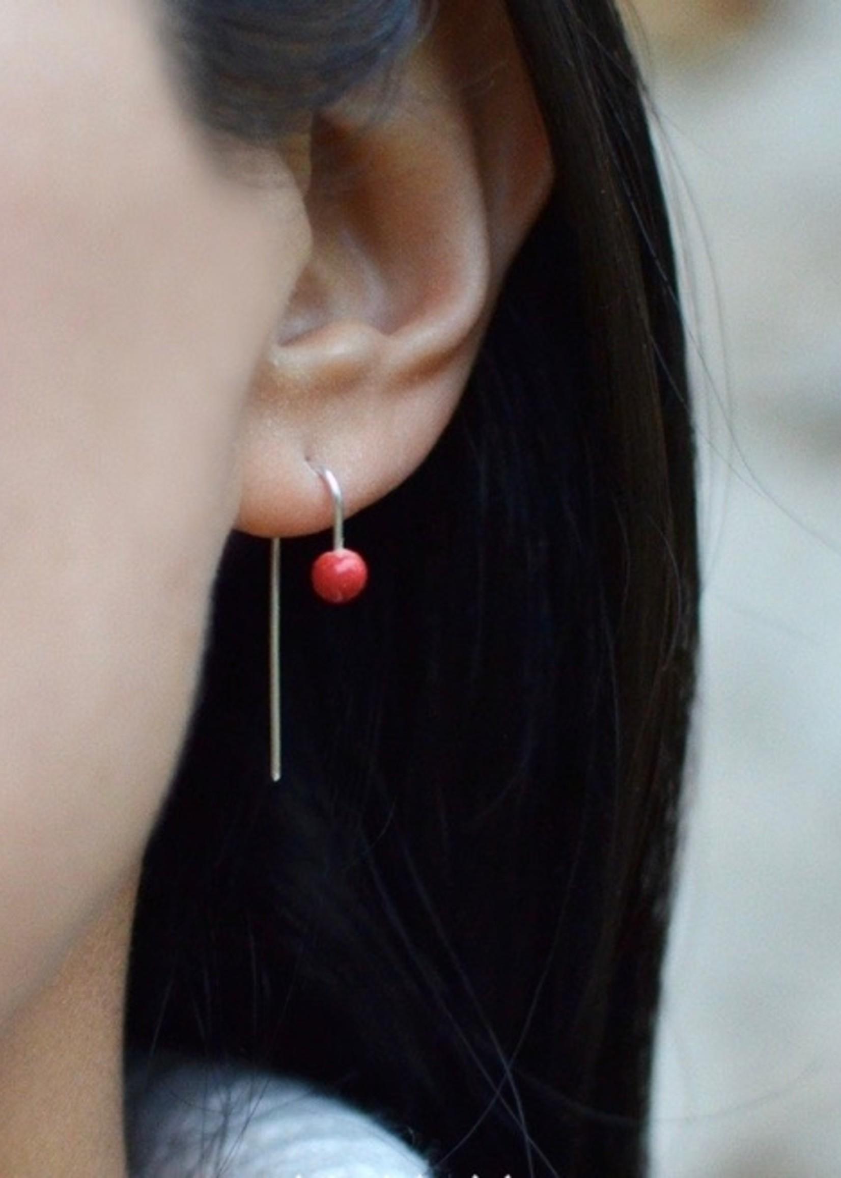 """Monochromatiques Boucles d'oreilles """"Twisted Pins"""" par Monochromatiques"""