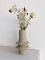 Bloomingville Geo Ivory Taupe Vase
