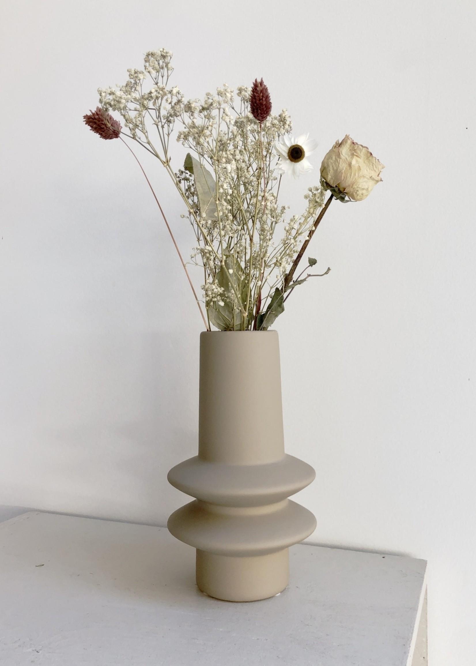 Bloomingville Geo Ivory Taupe Vase by Bloomingville