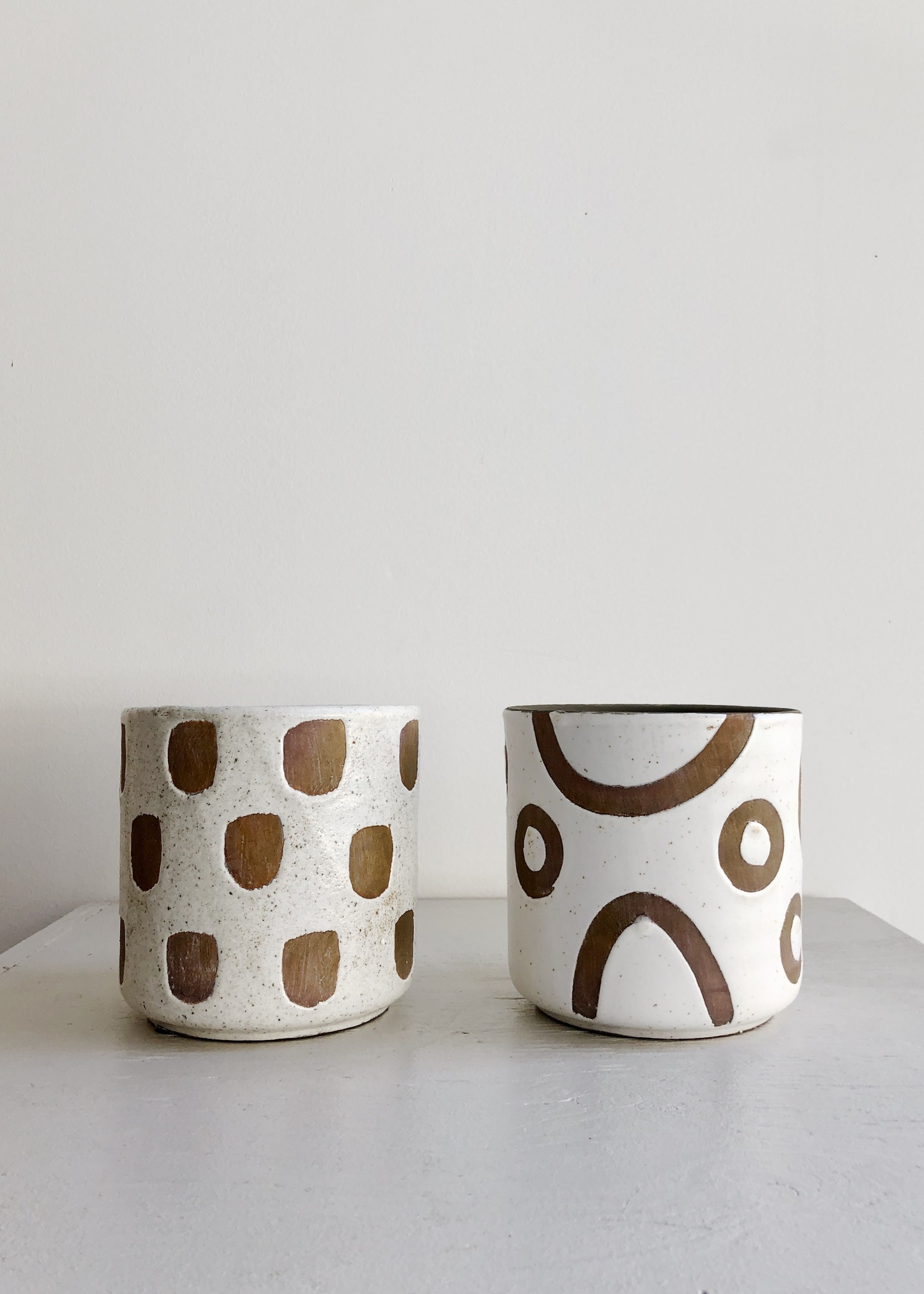 Bloomingville Terracotta Planters with Shapes by Bloomingville