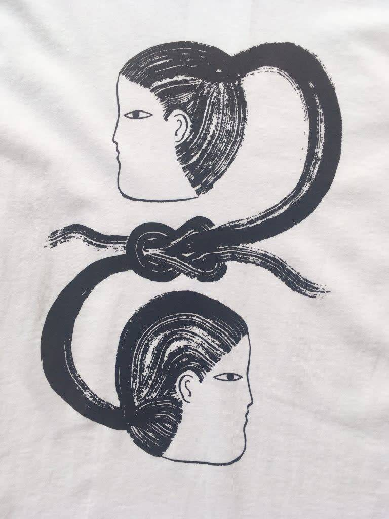 Annex Collaborations T-shirt 'Ponytail Knot'