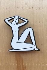 """Kaye Blegvad Épinglette """"Seated Nude"""""""