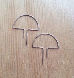 Nepheliad Open Mushroom Earrings in Silver
