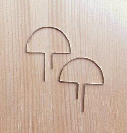 Nepheliad Open Mushroom Earrings in Gold