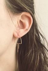 Nepheliad Open Mushroom Earrings in Gold