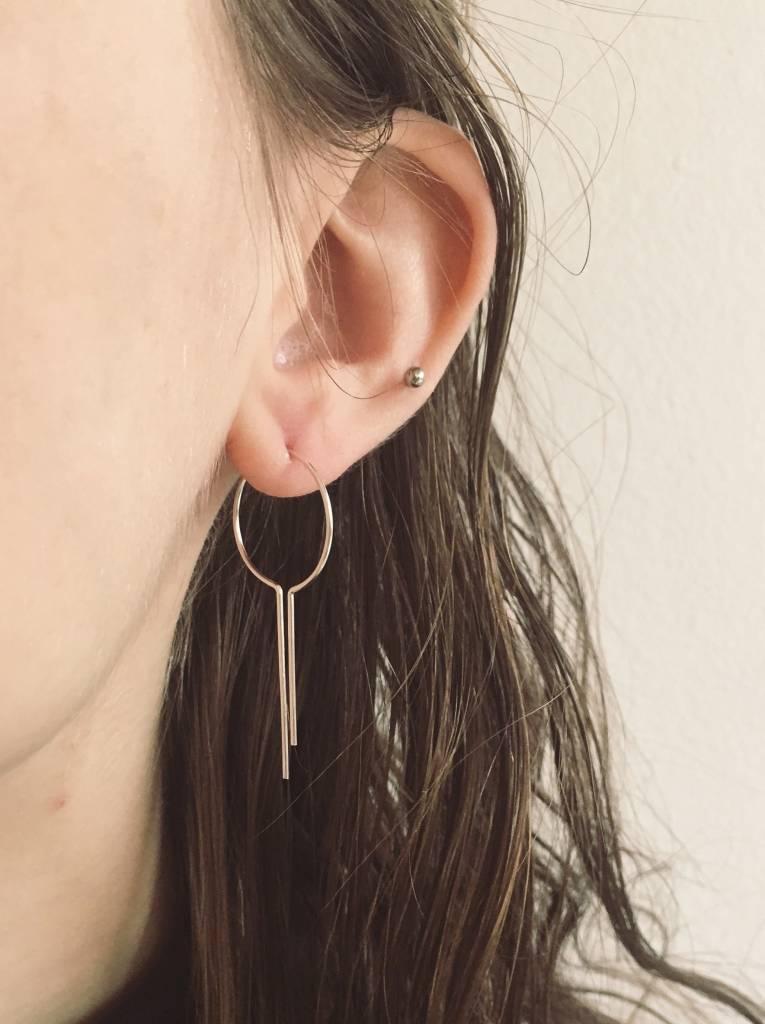 """Nepheliad Boucles d'oreilles """"Dreamcatcher Open Hoop"""" en argent"""