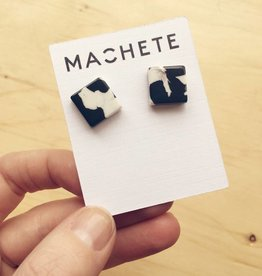 Machete Block Acetate Earrings