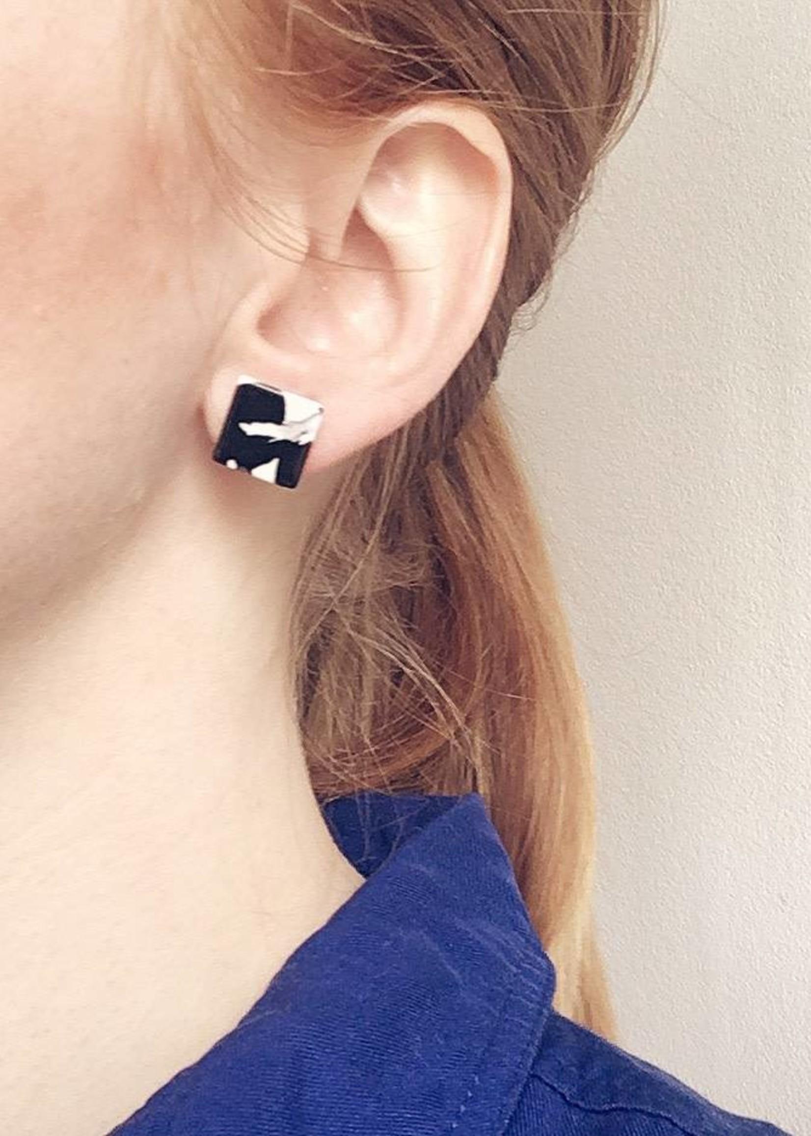 Machete Block Acetate Earrings