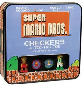 USAOPOLY Super Mario: Checkers and Tic-Tac Toe Collector's Edition