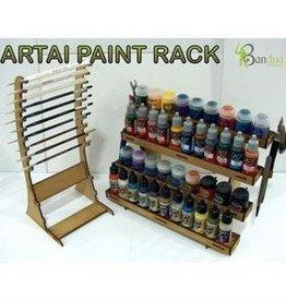 Bandua Artai Paint Rack w/Brush & Tool Rack