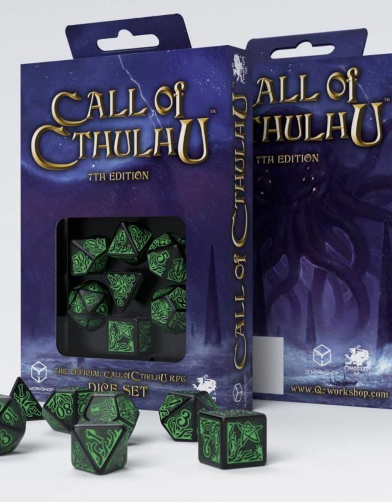 a place to call home box set call of cthulhu 7th edition black green dice set call of Q-Workshop Call of Cathulhu Dice: 7th ED. Black u0026 Green