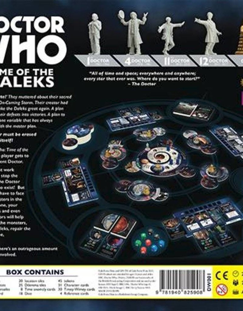 Time of the Daleks Board Game Gale Force Nine #NEW DOCTOR WHO Toys ...