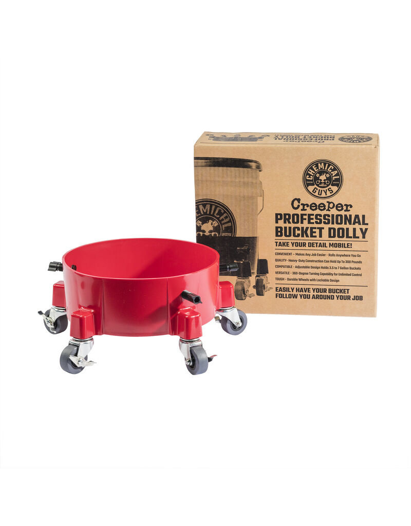 Chemical Guys ACC1001R - The Creeper Professional Bucket Dolly (Red)
