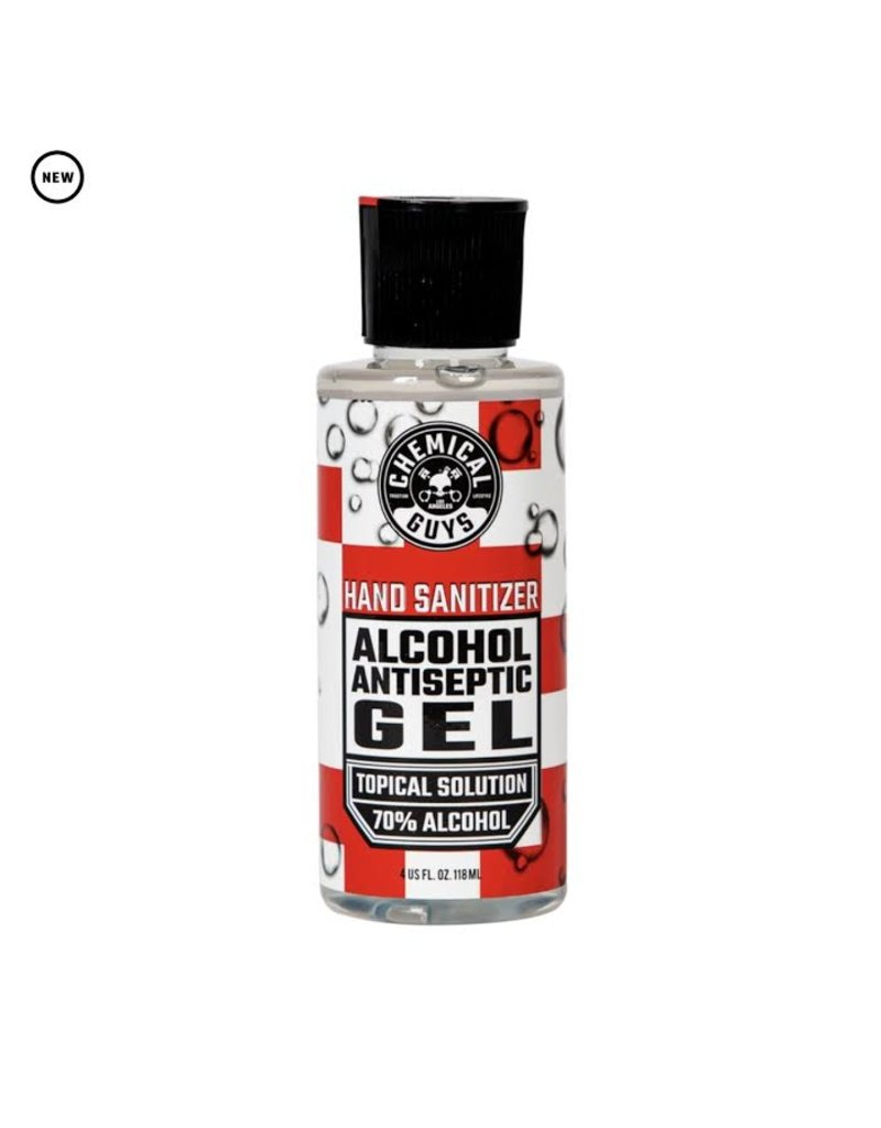 Chemical Guys SeventyGel Hand Sanitizer 70% Alcohol Antiseptic Gel Topical Solution (4oz) ALL SALES FINAL