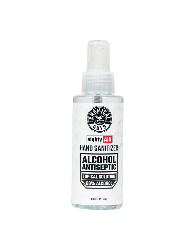 Chemical Guys HYG10004 - Hand Sanitizer Alcohol Antiseptic 80% Topical Solution (4 oz) ALL SALES FINAL
