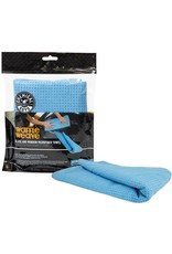 "Chemical Guys Waffle Weave Glass and Window Microfiber Towel, Light Blue 27"" x 16"""