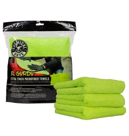 "Chemical Guys MIC33303 - El Gordo Extra Thick Professional Microfiber Towel, Green 16.5"" x 16.5"" (3 Pack)"