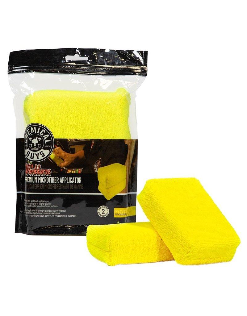 Workhorse Premium Microfiber Applicator, Yellow