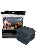 "Chemical Guys Happy Ending Ultra Plush Edgeless Microfiber Towel, Black 16"" x 16"" (3 Pack)"