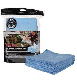 "Chemical Guys Workhorse Professional Microfiber Towel, Blue 16"" x 16"" (3 Pack)"