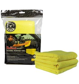 """Chemical Guys MICYELLOW03 - Workhorse Professional Microfiber Towel, Yellow 16"""" x 16"""" (3 Pack)"""