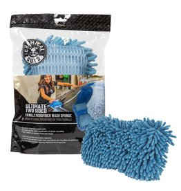 Chemical Guys MIC495 - Ultimate Two Sided Chenille Microfiber Wash Sponge, Blue
