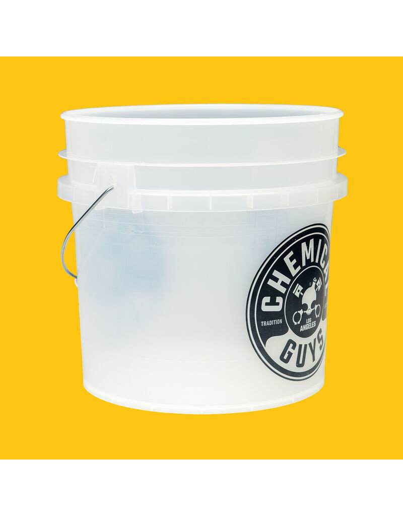 Chemical Guys ACC104 -Heavy Duty Detailing Bucket, Clear
