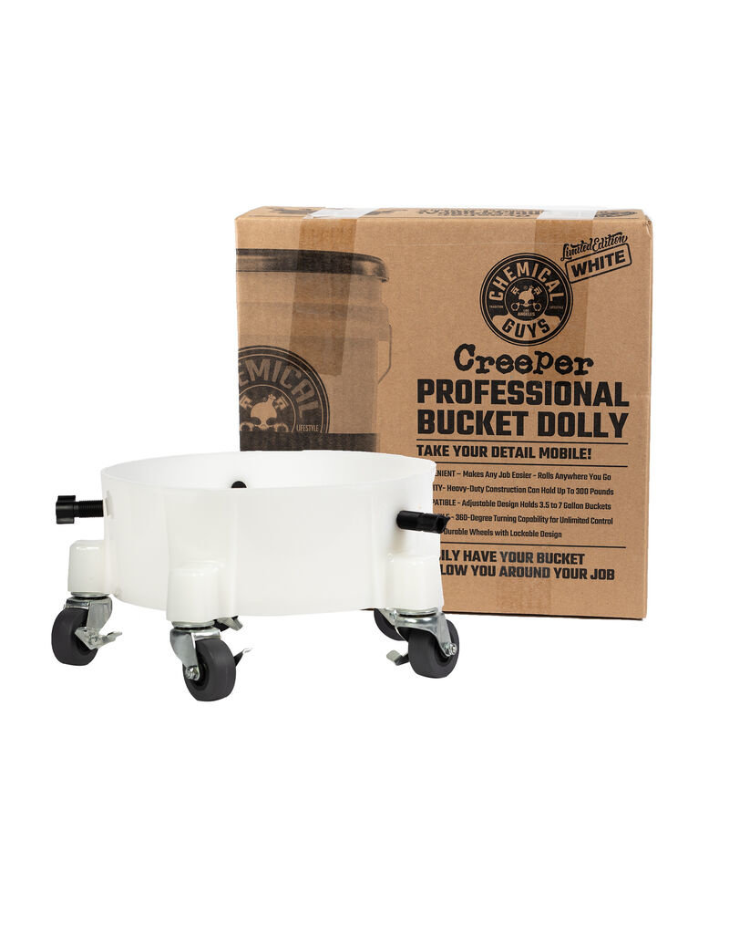 Chemical Guys ACC1001W - Creeper Professional Bucket Dolly, White