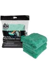"Chemical Guys MIC34603 - Happy Ending Ultra Plush Edgeless Microfiber Towel, Green 16"" x 16"" (3 Pack)"