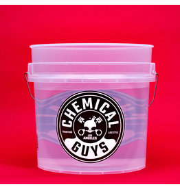 Chemical Guys Heavy Duty Ultra Clear Detailing Bucket 4.5 Gal