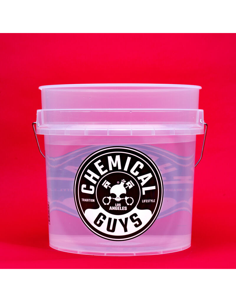 Chemical Guys ACC106 - Heavy Duty Ultra Clear Detailing Bucket 4.5 Gal