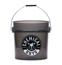 Chemical Guys ACC108 - Chemical Guys Heavy Duty Detailing Bucket, 4.5 Gal, Smoked Black
