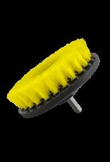 ACC_201_BRUSH_MD - Carpet Brush w/ Drill Attachment, Medium Duty, Yellow