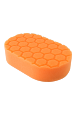 BUFX_201 -  Hex-Logic Medium Cutting Hand Applicator Pad, Orange (3 x 6 x 1 Inch)