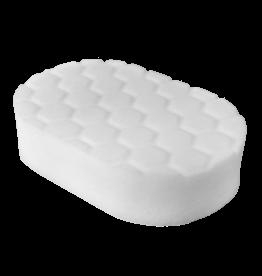 BUFX_202 - Hex-Logic Polishing Hand Applicator Pad, White (3 x 6 x 1 Inch)