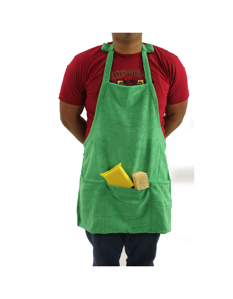 MIC_APRON1 - Microfiber Detailing Apron with Pockets & Hook & Loop Straps for Cords