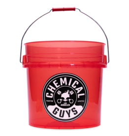 Chemcial Guys ACC107 - Chemical Guys Heavy Duty Detailing Bucket, 4.5 Gal, Transparent Red