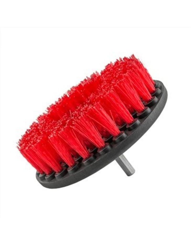 Carpet Brush w/ Drill Attachment, Heavy Duty, Red