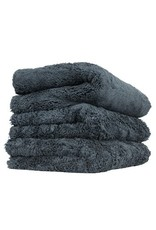 Happy Ending Edgeless Microfiber Towel, Black, 16'' x 16'', (3 Pack)