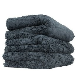 "Happy Ending Edgeless Microfiber Towel, Black, 16"" x 16"", (3 Pack)"