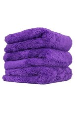 Happy Ending Edgeless Microfiber Towel, Purple, 16'' x 16'', (3 Pack)