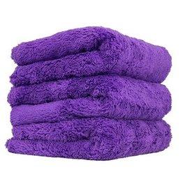 Happy Ending Edgeless Microfiber Towel, Purple, 16'' x 16'', (3 Pack)