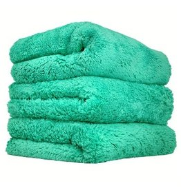 Happy Ending Edgeless Microfiber Towel, Green, 16'' x 16'', (3 Pack)