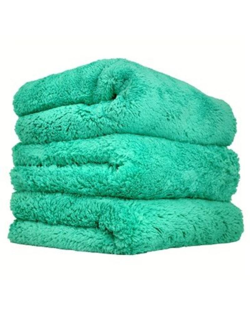 "Happy Ending Edgeless Microfiber Towel, Green, 16"" x 16"", (3 Pack)"