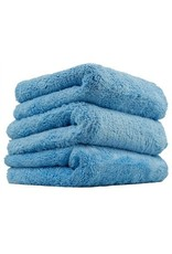 "Happy Ending Edgeless Microfiber Towel, Blue, 16"" x 16"", (3 Pack)"