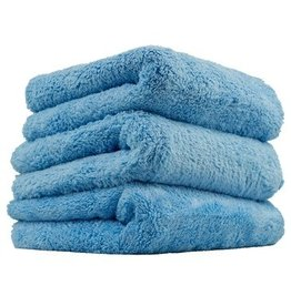 Happy Ending Edgeless Microfiber Towel, Blue, 16'' x 16'', (3 Pack)